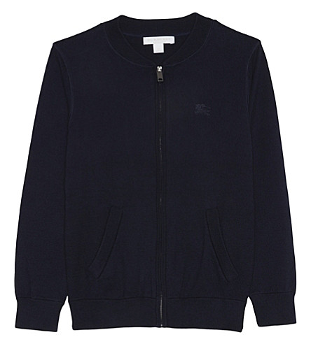 BURBERRY Jaxson zipped cotton sweater 4-14 years (Navy