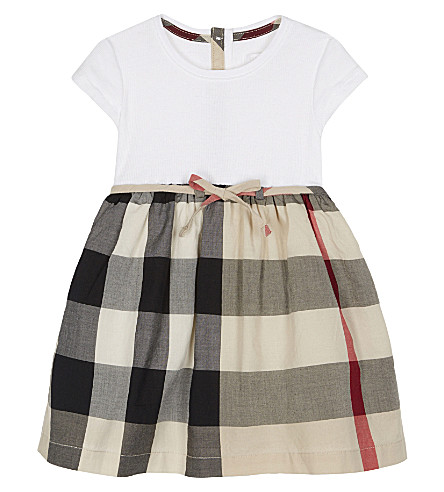 BURBERRY Rosey check cotton dress 6-36 months (New+classic+check