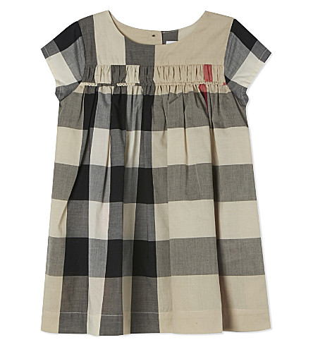 BURBERRY Ariadne checked cotton dress 6-36 months (New+classic+check