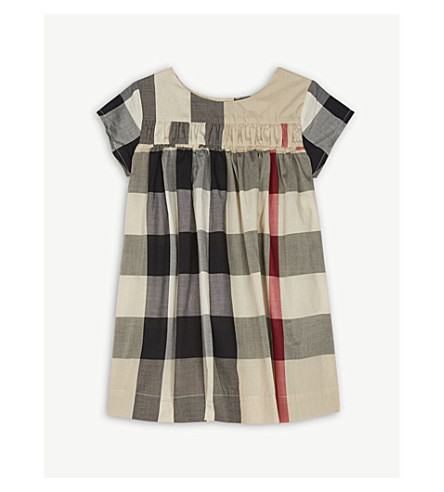 BURBERRY Ariadne cotton dress 6-36 months (New+classic+check