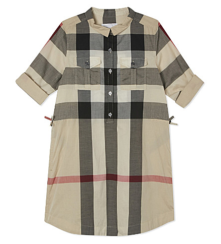 BURBERRY Darielle checked cotton shirt dress 4-14 years (New+classic+check
