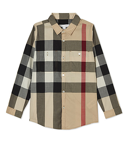 BURBERRY Cotton mini camber shirt 4-14 years (New+classic+check