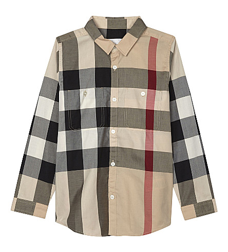 BURBERRY Camber cotton long-sleeved shirt 4-14 years (New+classic+check