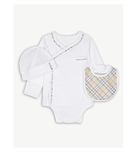 BURBERRY Konner set 1-6 months (White