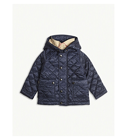BURBERRY Jamie quilted jacket 6-36 months (Ink+blue