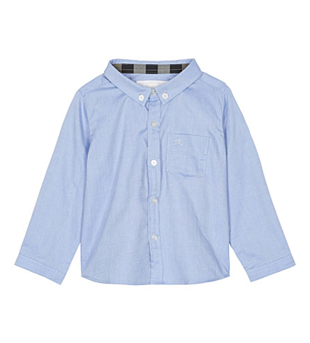 BURBERRY Fred cotton shirt 6-36 months (Cornflower+blue