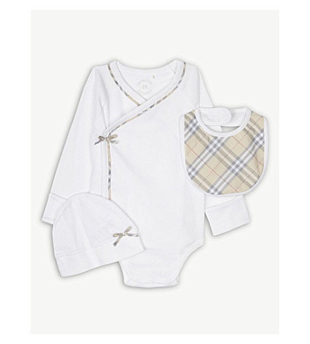 BURBERRY Kallie set 1-6 months (White