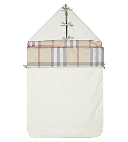 BURBERRY Lena cotton baby nest 6-9 months (Off+white