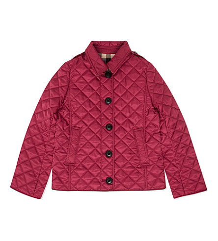 BURBERRY Mini ashurst quilted jacket 4-14 years (Fritillary+pink