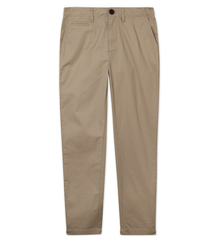 BURBERRY Light cotton chino 4-14 years (Taupe
