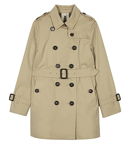 BURBERRY Sandringham cotton trench coat 4-14 years (Honey