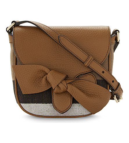 BURBERRY Cross body bow bag (Sand