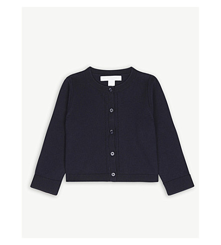 BURBERRY Mini rheta nova cotton cardigan 6-36 months (Navy+check