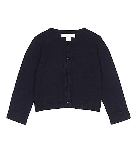 BURBERRY Rheta cotton cardigan 6-48 months (Navy