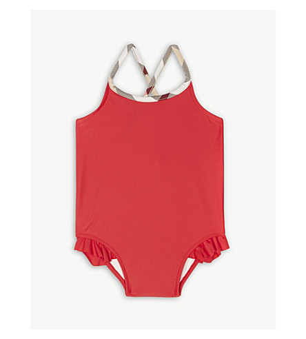 BURBERRY Lundy swimming costume 6-36 months (Poppy+red