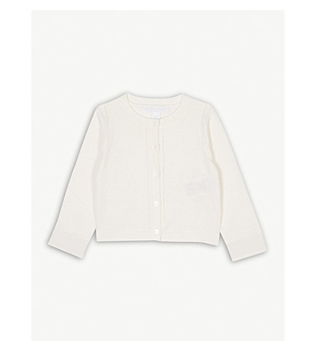 BURBERRY Cotton cardigan 6-36 months (White
