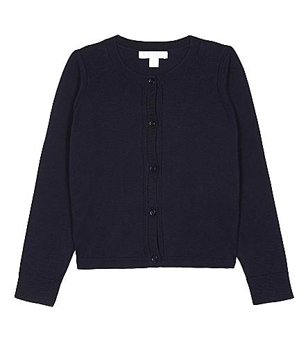 BURBERRY Rheta cotton cardigan 4-14 years (Navy