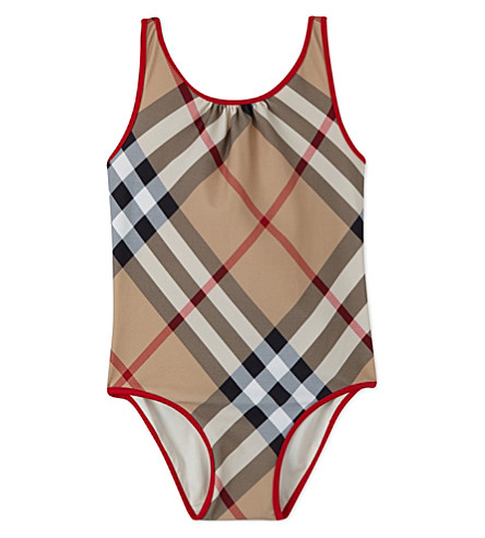 BURBERRY Beadnell check swimsuit 4-14 years (New+classic+check