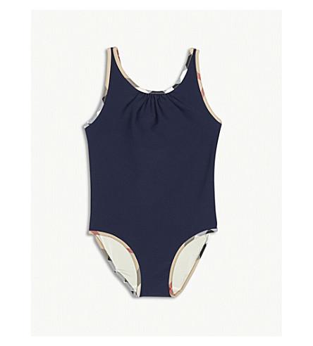 BURBERRY Check swimming costume 4-14 years (Navy