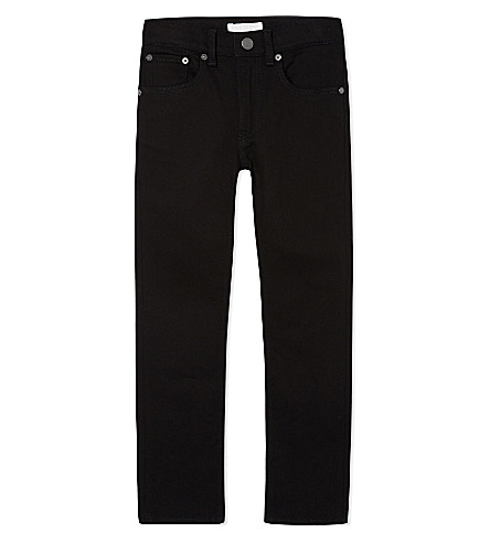 BURBERRY Skinny cotton jeans 4-14 years (Black