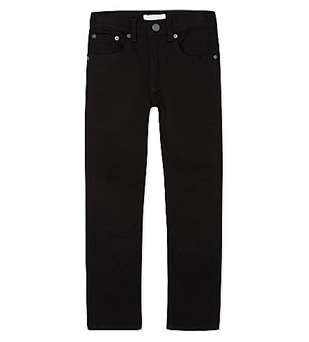 BURBERRY 紧身棉牛仔裤4-14 年 (黑色