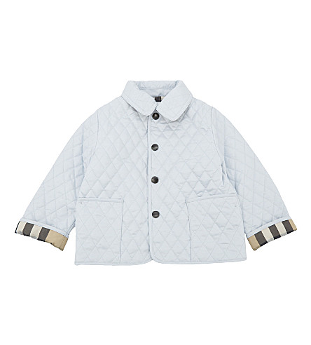 BURBERRY Colin quilted jacket 3-24 months (Ice+blue