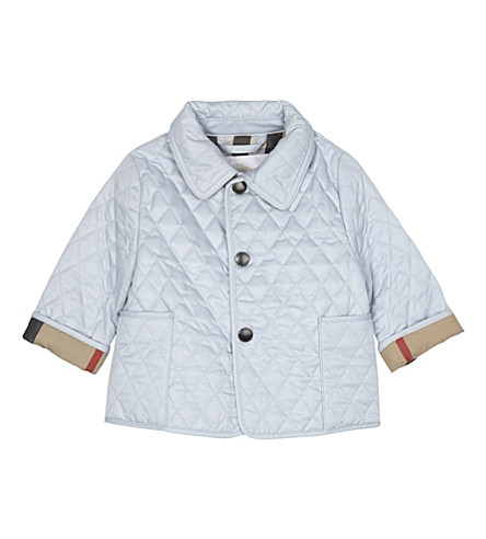 BURBERRY Colin quilted jacket 1-24 months (Ice+blue