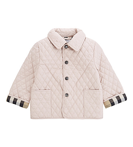 BURBERRY Colin quilted jacket 3-24 months (Powder+pink
