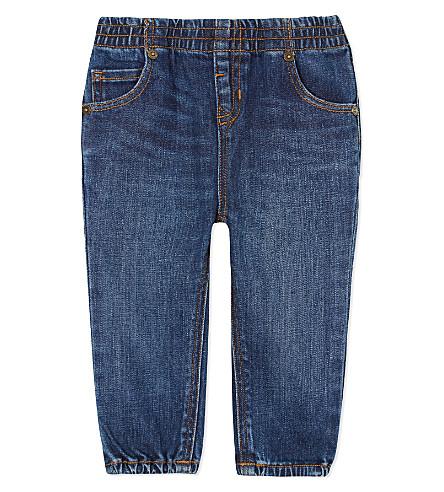BURBERRY Eloise cotton denim jeans 6-36 months (Indigo