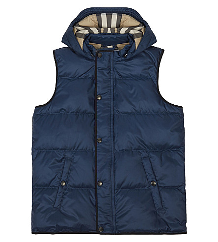 BURBERRY Carlton quilted gilet 4-14 years (Ink+blue