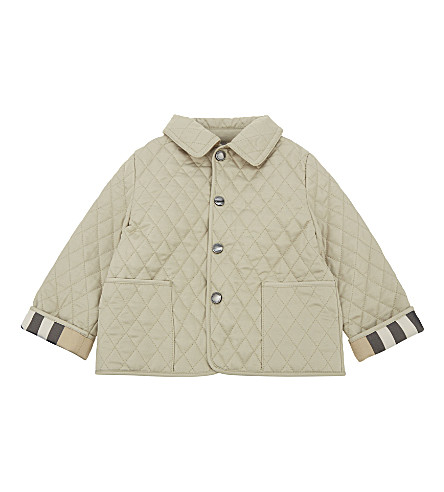BURBERRY Colin quilted jacket 3-24 months (Mink