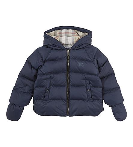 BURBERRY Rilla raglan puffer jacket 6-36 months (Navy