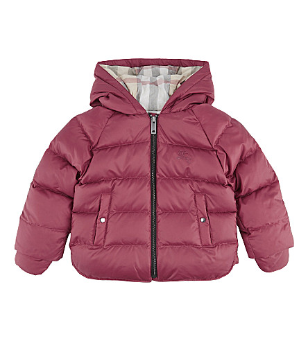 BURBERRY Rilla puffa jacket 6-36 months (Peony+rose