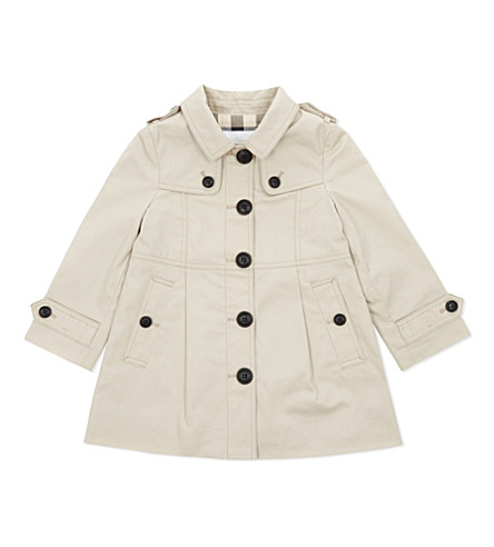 BURBERRY Sophia classic trench coat 6-36 months (Stone