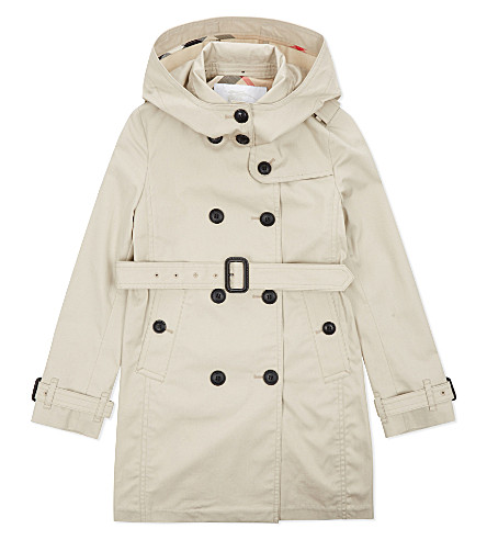 BURBERRY Buckingham cotton trench coat 4-14 years (Stone