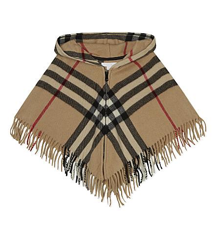 BURBERRY Victoria wool-cashmere blend cape l (New+classic