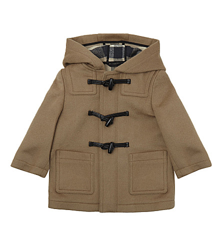 BURBERRY Brogan wool duffle coat 9-36 months (New+camel