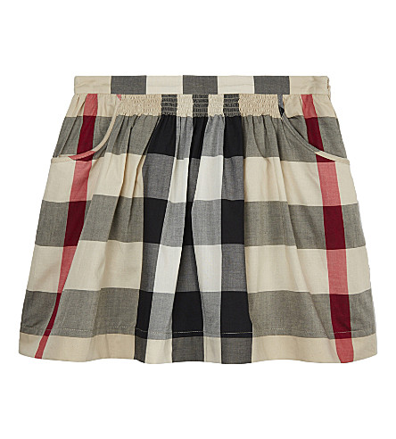 BURBERRY Kayly cotton skirt 4-14 years (New+classic+check