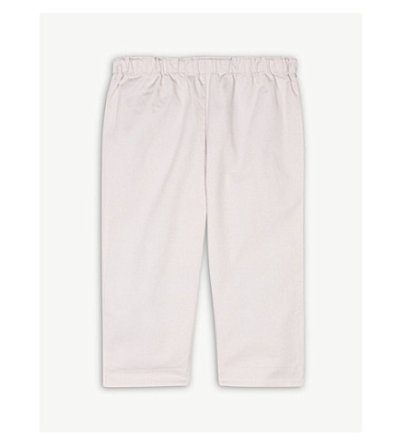 BURBERRY Darcy cotton trousers 3-24 months (Light+pink