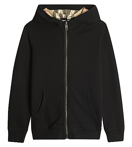 BURBERRY Pearcy cotton hoody 4-14 years (Black