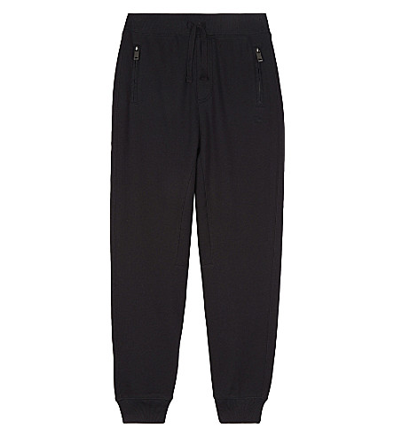 BURBERRY Phil cotton jogging bottoms 4-14 years (Black
