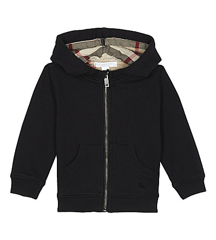 BURBERRY Cotton zipped hoody 6-36 months (Black