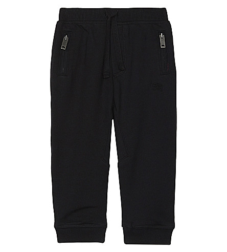 BURBERRY Cotton jogging bottoms (Black