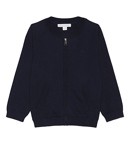 BURBERRY Mini jaxson cotton cardigan 6-36 months (Navy