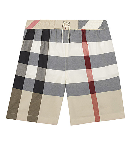 BURBERRY Jefferies House Check swim shorts (New+classic+check
