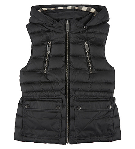 BURBERRY Hooded gilet 4-14 years (Black