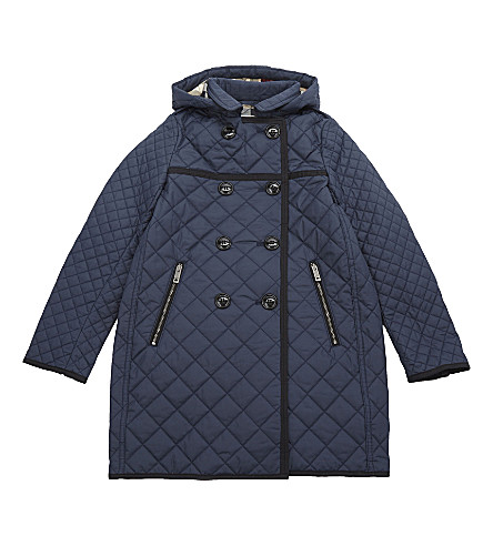 BURBERRY Theresa quilted jacket 4-14 years (Ink+blue