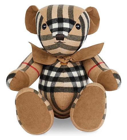 BURBERRY 方格羊绒托马斯熊 (骆驼 + 检查