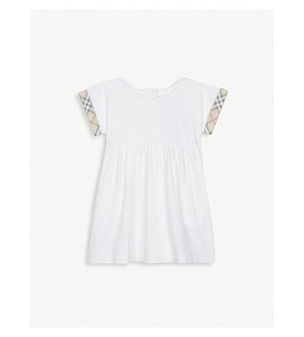 BURBERRY Jen cotton dress 3-24 months (White