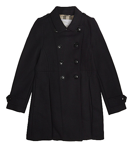 BURBERRY Frieda wool-blend coat 6-14 years (Navy
